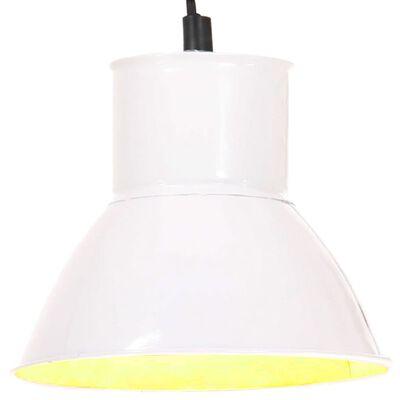 vidaXL Lampă suspendată, 25 W, alb, rotund, 17 cm E27