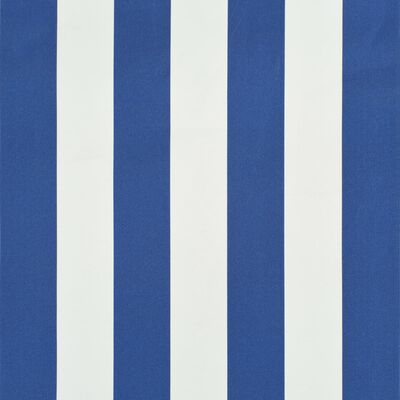 vidaXL Copertină retractabilă, albastru și alb, 300 x 150 cm