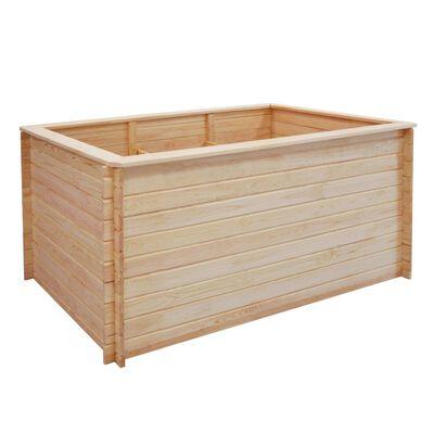 vidaXL Strat înălțat de grădină, 150 x 100 x 80 cm, lemn de pin, 19 mm