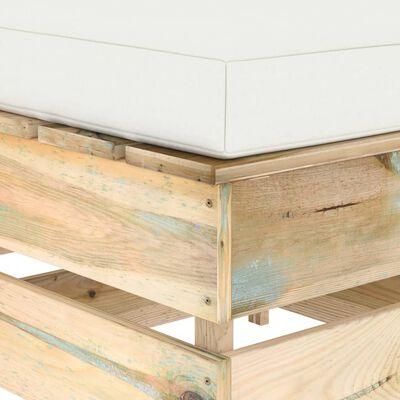 vidaXL Taburet modular cu pernă, lemn verde tratat