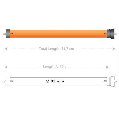 vidaXL Motoare tubulare, 3 buc., 10 Nm