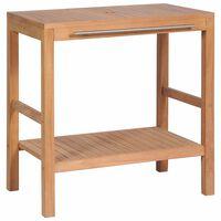 vidaXL Dulap de chiuvetă baie, 74x45x75 cm, lemn masiv de tec