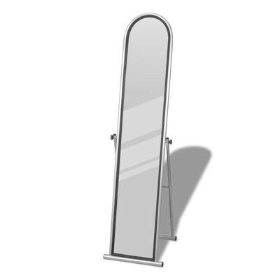 Oglindă de podea cu suport Rectangulară Gri