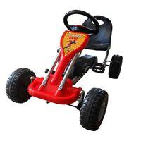 vidaXL Kart cu pedale Go Kart, roșu