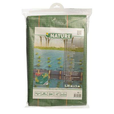 Nature Folie antiburuieni pentru sol, verde, 5,2x5 m