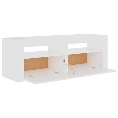 vidaXL Comodă TV cu lumini LED, alb, 120x35x40 cm