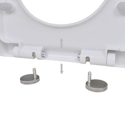 vidaXL Capace WC cu închidere silențioasă, 2 buc., alb, plastic
