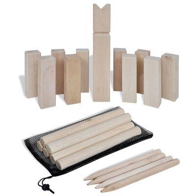 Set de joc Kubb din lemn