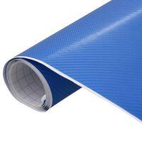 vidaXL Folie auto 4D albastru 500 x 152 cm