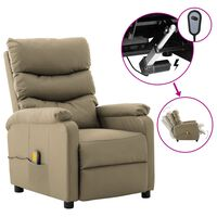 vidaXL Electric Massage Reclining Chair Cappuccino Faux Leather (289695+327164)