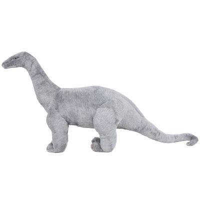 vidaXL Jucărie de pluș verticală dinozaur Brachiosaurus, gri XXL
