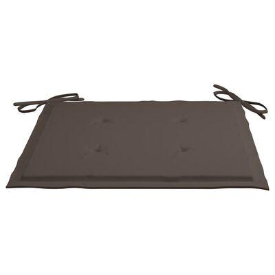 vidaXL Scaune pliabile de exterior cu perne, 8 buc., lemn masiv acacia