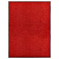 vidaXL Covoraș de ușă lavabil, roșu, 90 x 120 cm