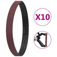 vidaXL Curele de șlefuire, 10 buc., P60, 40x760 mm