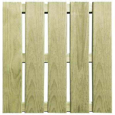 vidaXL Plăci de pardoseală, 12 buc., verde, 50 x 50 cm, lemn