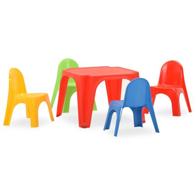 vidaXL Set pentru copii cu masă și scaun, PP