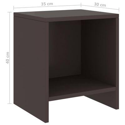 vidaXL Noptieră, maro închis, 35x30x40 cm, lemn masiv de pin