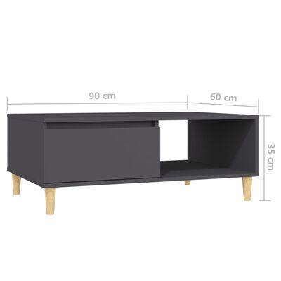 vidaXL Masă de cafea Gri 90x60x35 cm PAL