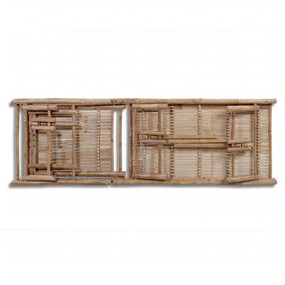 vidaXL Șezlong, bambus