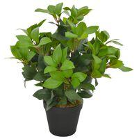 vidaXL Plantă artificială dafin cu ghiveci, verde, 40 cm