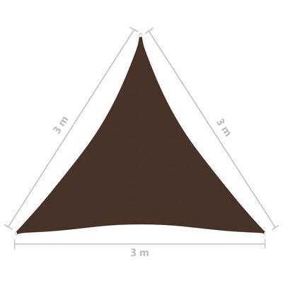 vidaXL Parasolar, maro, 3x3x3 m, țesătură oxford, triunghiular