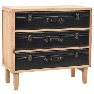vidaXL Dulap cu sertare, lemn masiv de brad, 80 x 36 x 75 cm