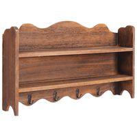 vidaXL Cuier de perete, maro, 50 x 10 x 30 cm, lemn