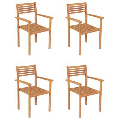 vidaXL Set mobilier grădină, 5 piese, lemn masiv de tec