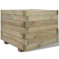 vidaXL Stratat înălțat, 50x50x40 cm, lemn, pătrat