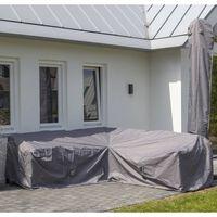 Madison Husă set mobilier de exterior, gri, 270 x 270 x 70 cm