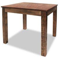 vidaXL Masă de bucătărie din lemn masiv reciclat, 82 x 80 x 76 cm