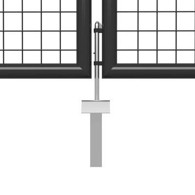 vidaXL Poartă de grădină, antracit, 400 x 75 cm, oțel