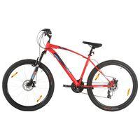 vidaXL Bicicletă montană, 21 viteze, roată 29 inci, cadru 53 cm, roșu