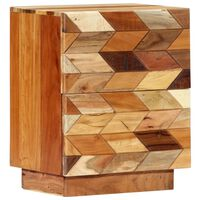 vidaXL Noptieră, 40 x 30 x 50 cm, lemn masiv reciclat