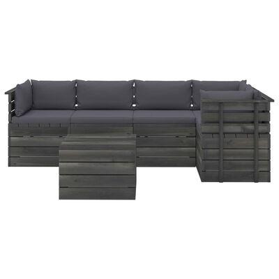 vidaXL Set mobilier grădină din paleți cu perne 6 piese lemn masiv pin