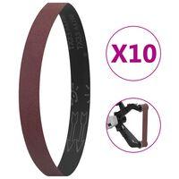 vidaXL Curele de șlefuire, 10 buc., P100, 40x760 mm