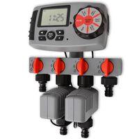 42352 vidaXL Timer automat de irigare cu 4 stații 3 V