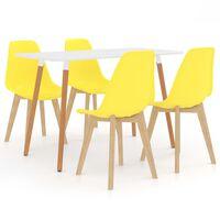 vidaXL Set mobilier de bucătărie, 7 piese, albastru