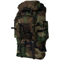 vidaXL Rucsac în stil militar, XXL, 100 L, camuflaj