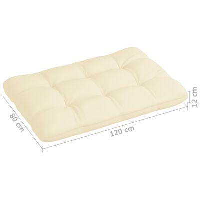 vidaXL Perne pentru canapea din paleți, 5 buc., crem