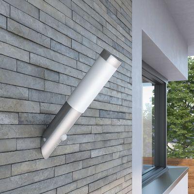 Lampă RVS cu senzor de mișcare 6 x 36 cm