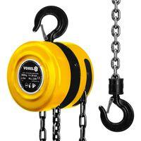 VOREL Scripete galben cu lanț de oțel, 3000 kg 80753