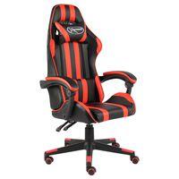 vidaXL Scaun de racing, negru și roșu, piele ecologică
