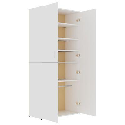 vidaXL Pantofar, alb, 80 x 39 x 178 cm, PAL, White