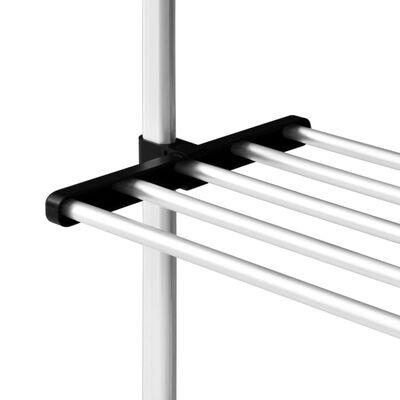 vidaXL Sistem de șifonier telescopic cu rafturi, aluminiu