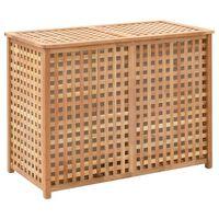 vidaXL Coș de rufe, 87,5x46x67 cm, lemn masiv de nuc