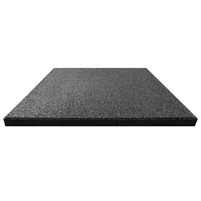 vidaXL Plăci de protecție la cădere 18 buc. negru 50x50x3 cm cauciuc