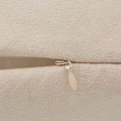vidaXL Huse de pernă din velur poliester, 80 x 80 cm, bej, 4 buc.