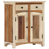 vidaXL Dulap lateral, 60 x 30 x 75 cm, lemn masiv reciclat
