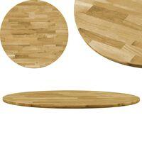 vidaXL Blat de masă, lemn masiv de stejar, rotund, 23 mm, 700 mm